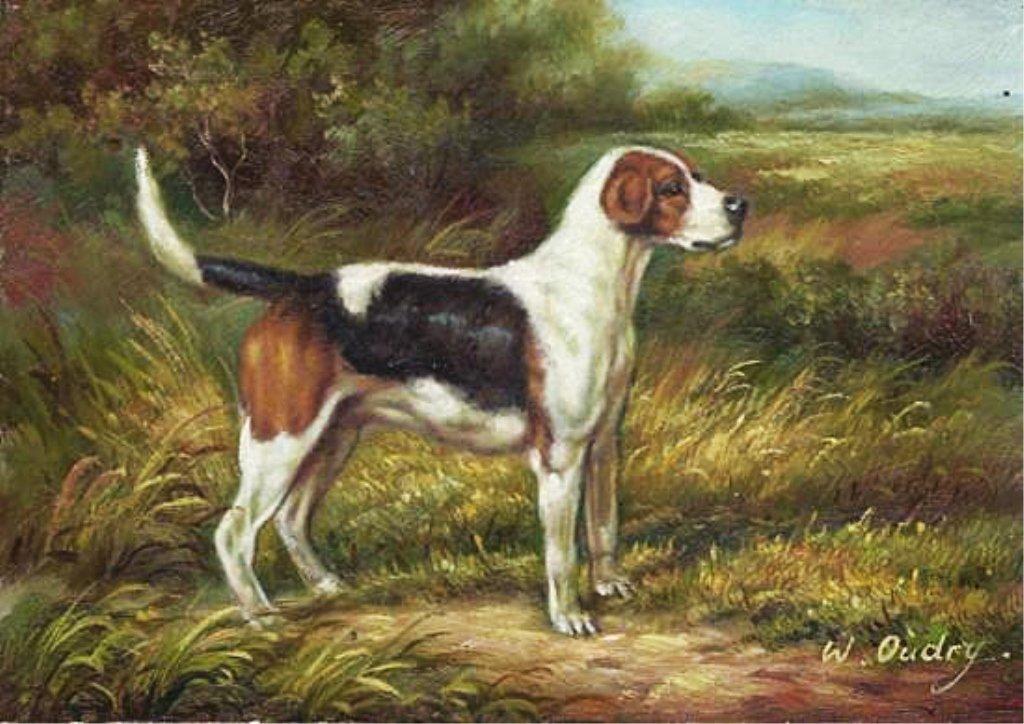 5 x 7 Oil on Board ~Hunting Dog in Field~