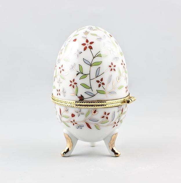 Hand Painted Porcelain Trinket Box