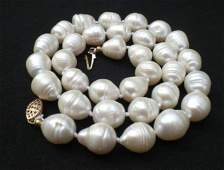 Tahitian White Baroque Pearl Necklace