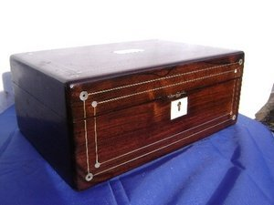 Mother of Pearl Inlay Regency Rosewood Box