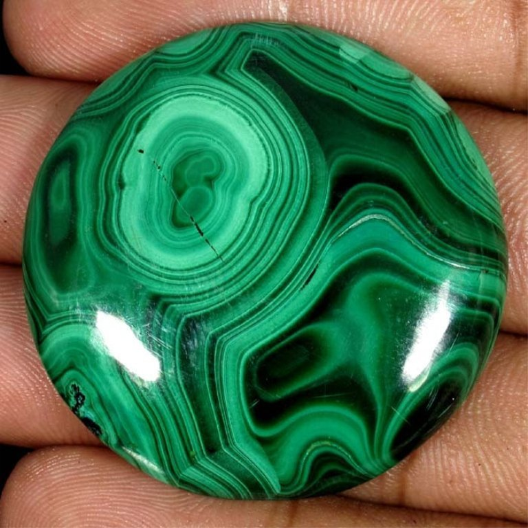 Huge 116.6 Carat Green Malachite Cabochon Gemstone