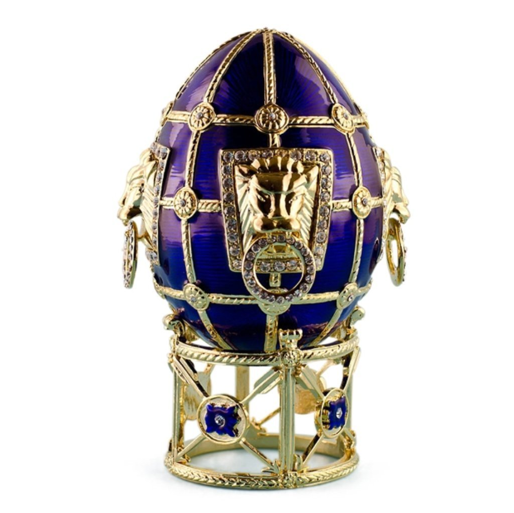 Russian Leo Faberge Inspired Egg