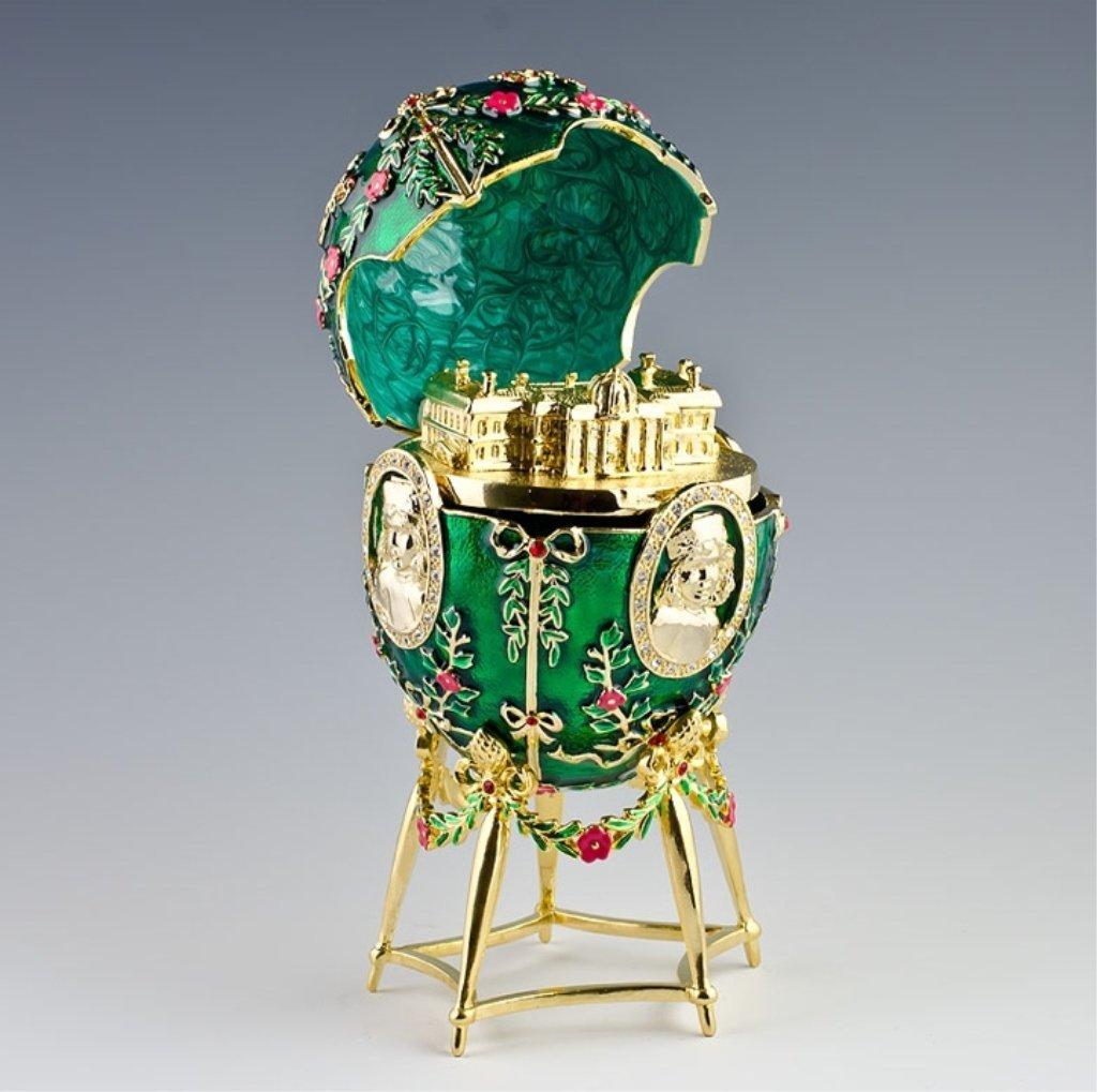 Alexander Palace Faberge Inspired Egg