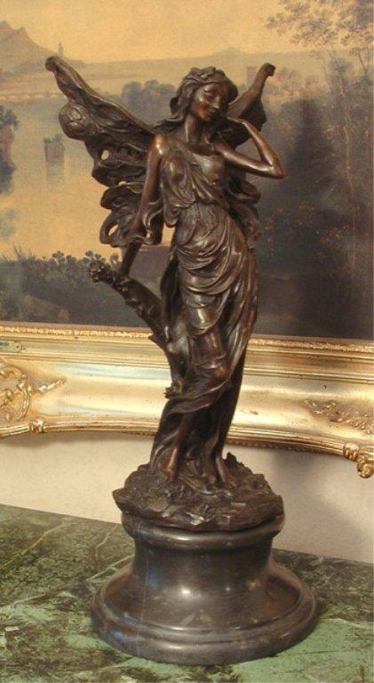 Beautiful Bronze Sculpture Lovely Nymph Fairy