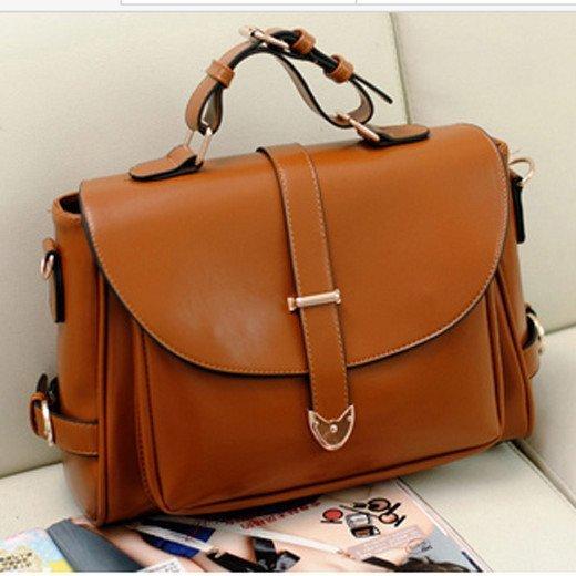 Fashion Retro Messenger Brown Leather Bag