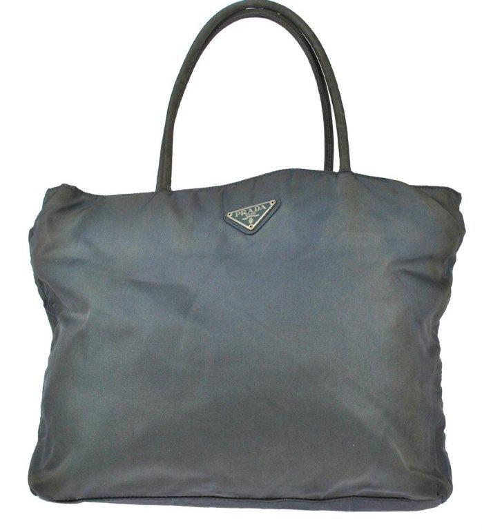 PRADA Vintage Green & Gold Nylon Hand Bag