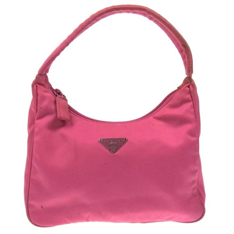 Authentic PRADA Pink Nylong Hand Bag