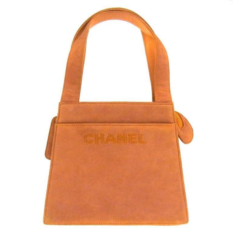 Authentic CHANEL Suede Hand Bag
