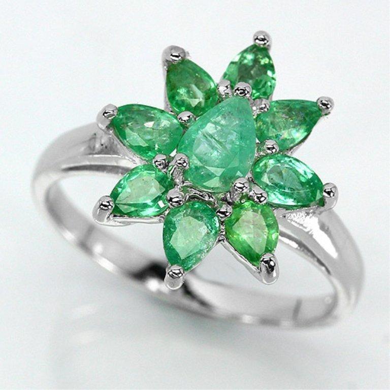 Beautiful Natural Emerald Ring 13.28 ct
