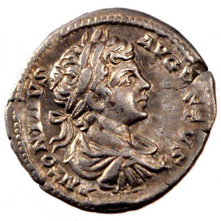 Ancient Roman Silver Coin Denarius Caracalla