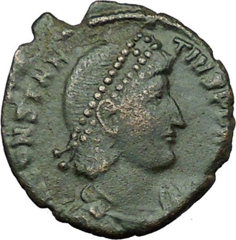Ancient Coin of Constantius II Roman Emperor