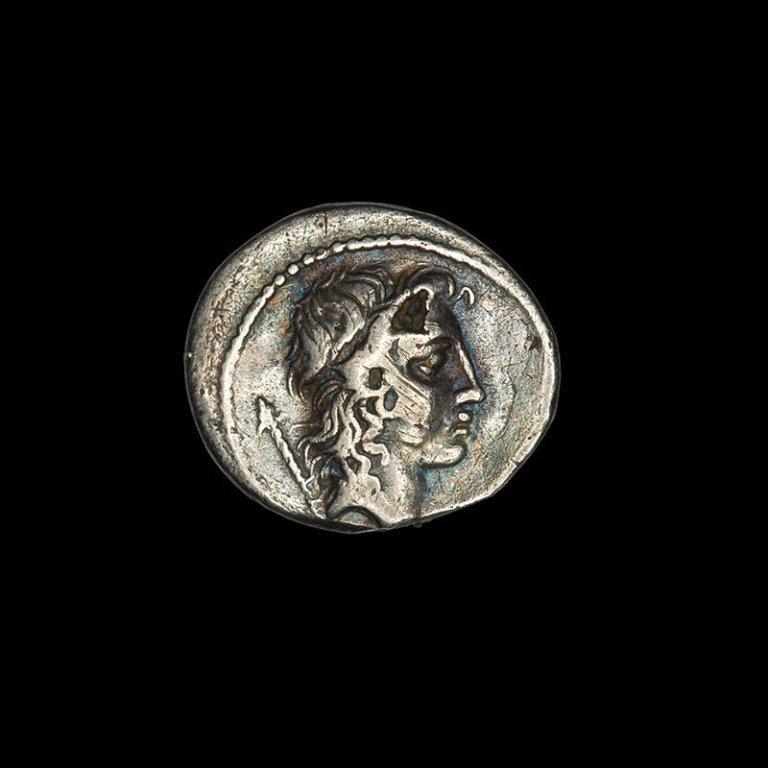 Roman Silver Fouree Denarius Cassius Longinus