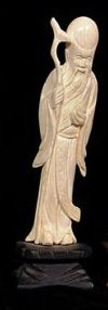 Fine, master-carved Ivory of a Chinese deity