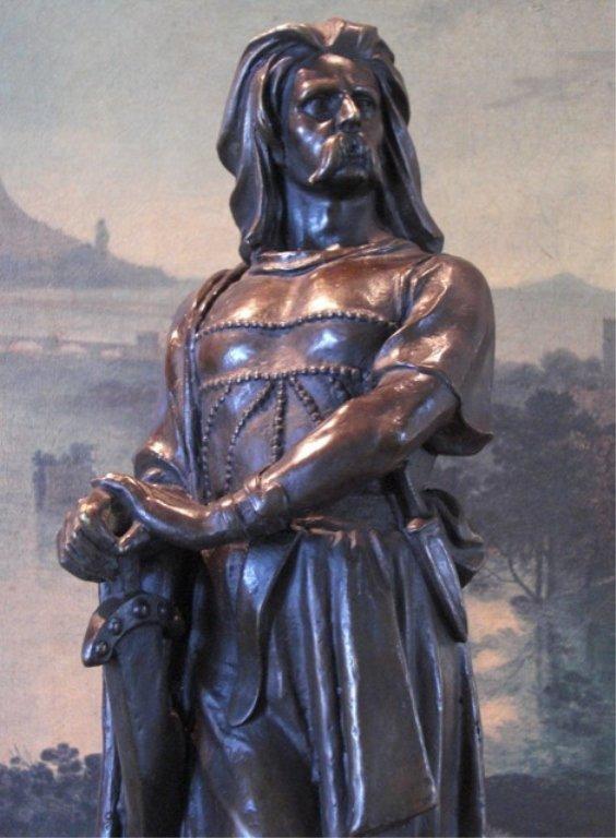 Stunning Bronze Sculpture Vercingetorix French War