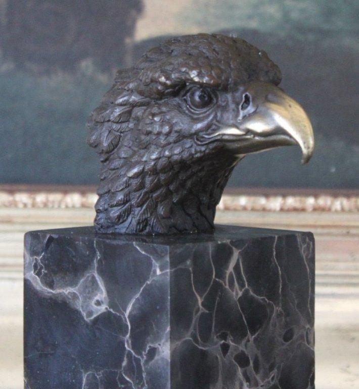 Noble Eagle Bust Bronze Sculpture