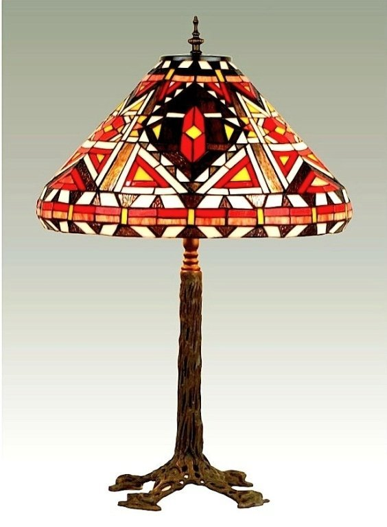 Tiffany Inspired American Indian Lamp