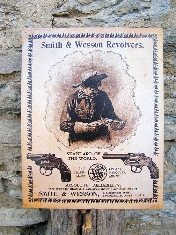 Vintage Style Smith & Wesson Metal Sign