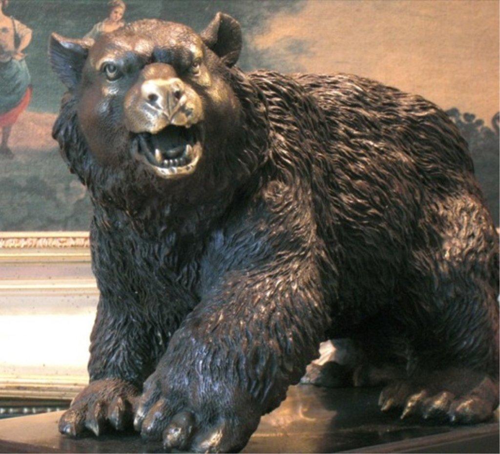 Majestic Bronze Sculpture Trophy Black Bear