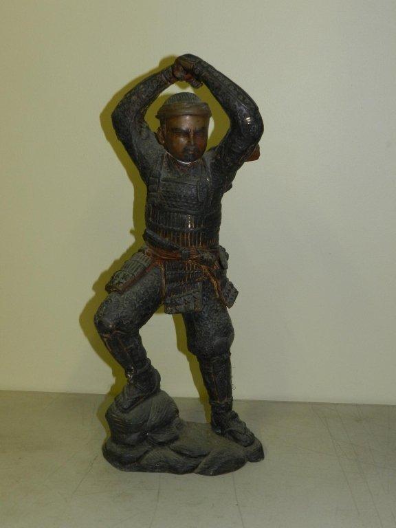 Samurai Warrior Bronze, Approx. 17in tall. Extreme