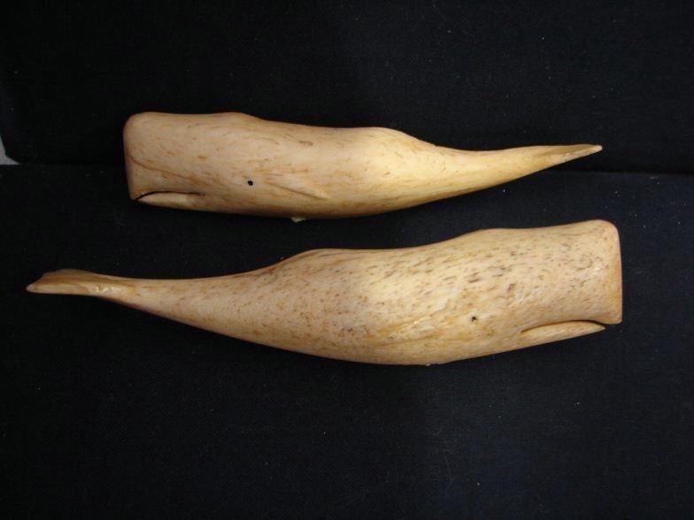 Rare and unusual Hundson Bay bone carvings