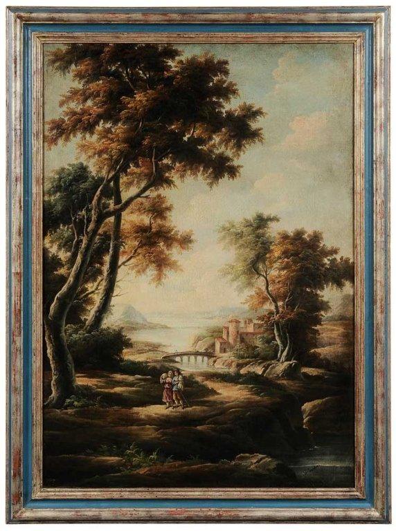 """Italianate Landscape, signed """"Salvador"""""""