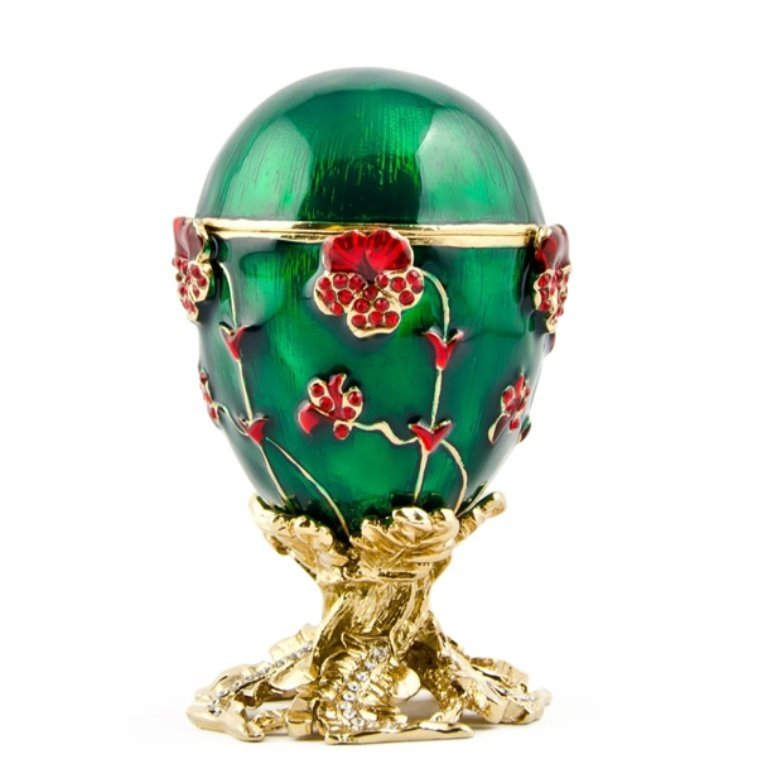 Pansy Faberge Inspired Egg