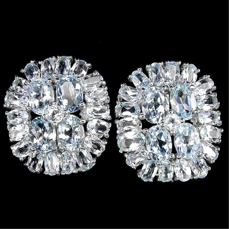 58.79 Ct. VVS Blue Topaz Earrings