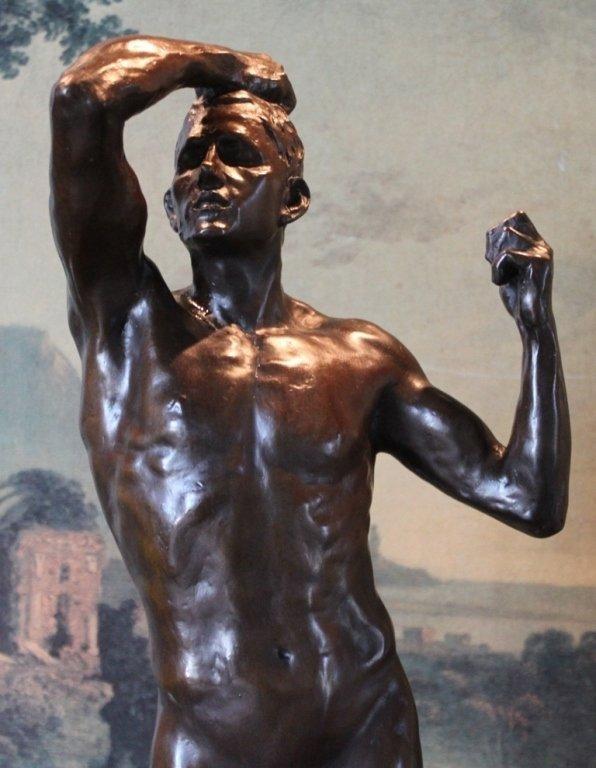 Erotic Athletic Male Nude Bronze Sculpture - 4