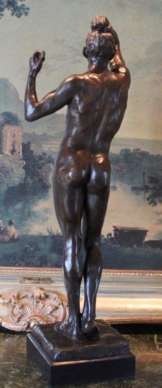 Erotic Athletic Male Nude Bronze Sculpture - 8