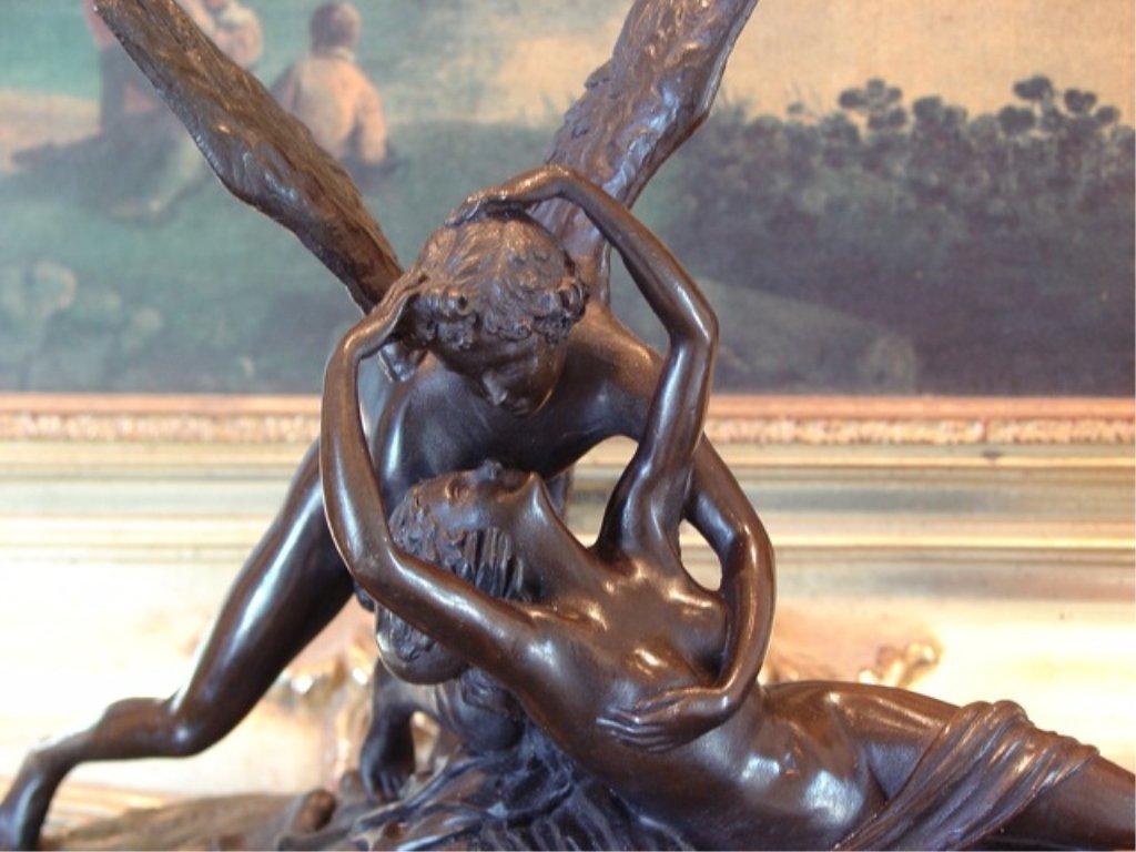 Cupid and Psyche Bronze Sculpture