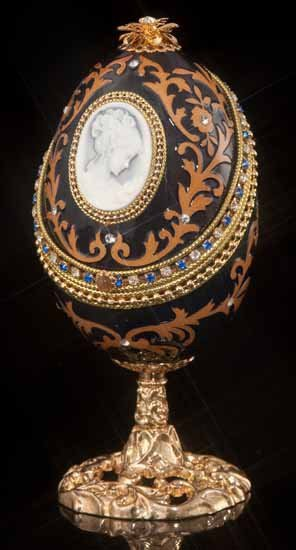 Faberge Inspired Midnight Cameo Egg