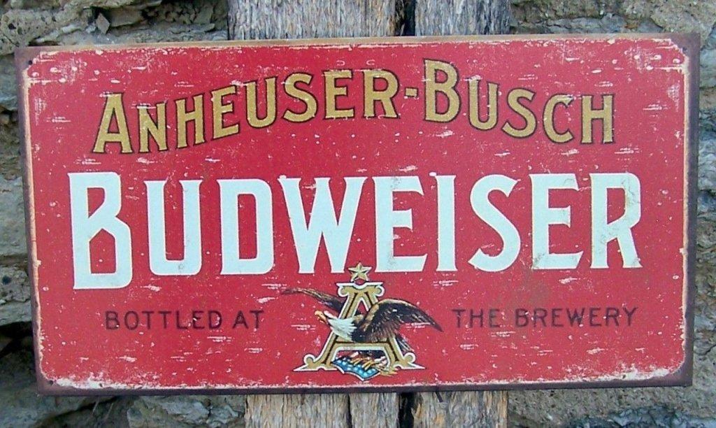 Retro-Style Anheuser-Busch Budweiser Metal Sign