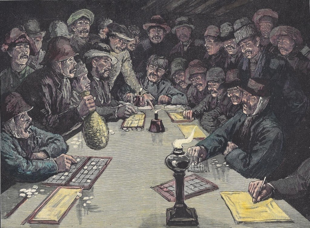 ~The Gamblers~ MATTED PRINT