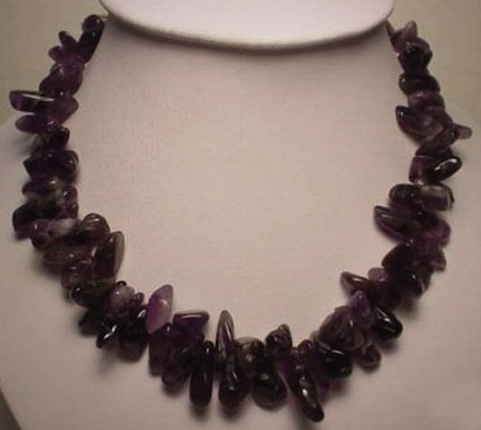 Chunky Amethyst Nugget Necklace