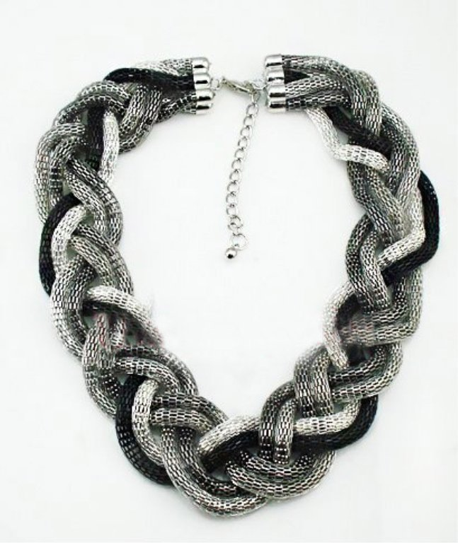 Multicolor 6 strand Braided Style Chunky Necklace