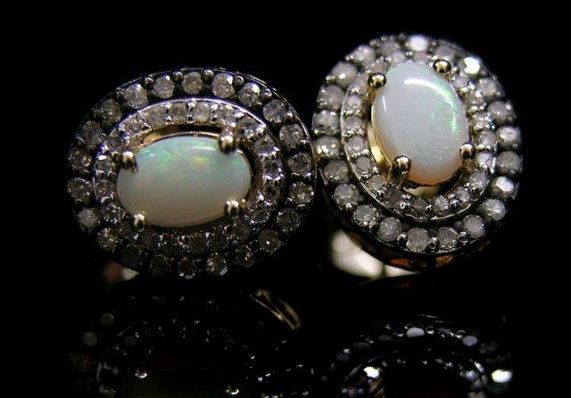 Pair of 14K Yellow Gold Pierced Earrings