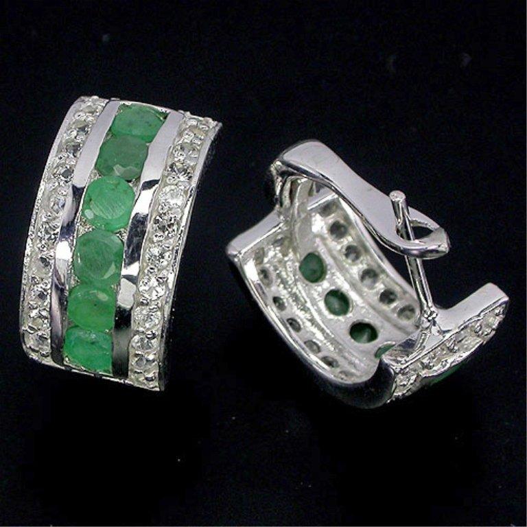 Classy 29.14ct VVS Natural Emerald Earrings