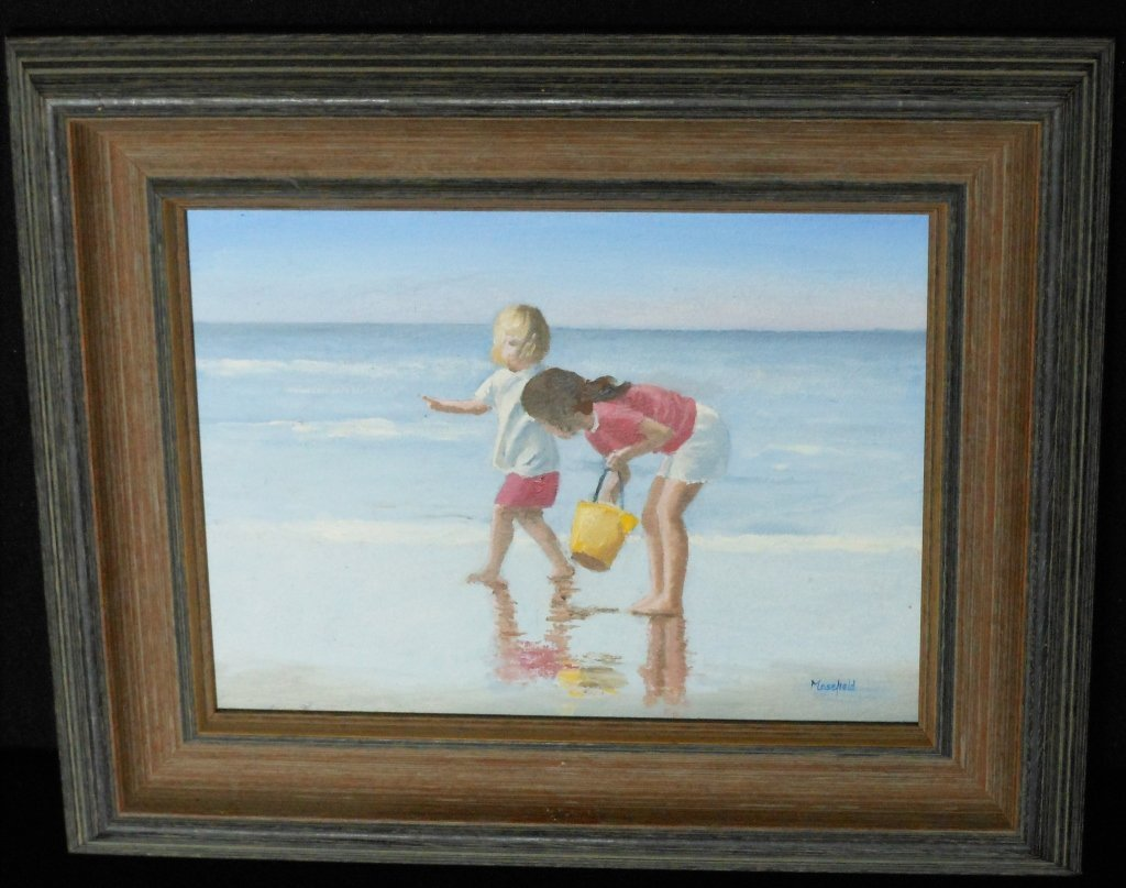 Masefield The Yellow Bucket Oil on board, signed