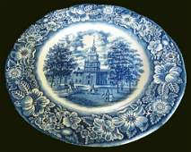 Staffordshire Liberty Blue White Dinner Plate