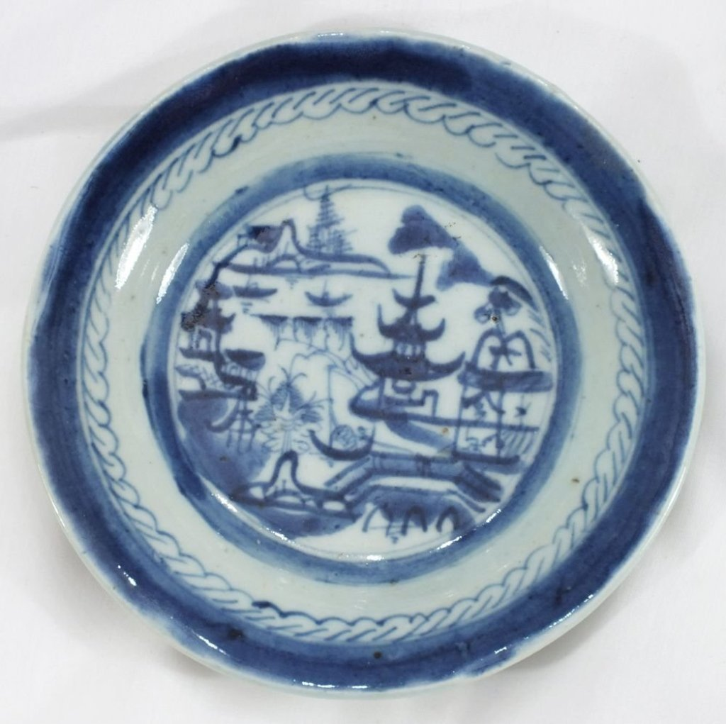 CHINESE EXPORT BLUE ON WHITE BOWL 18th century
