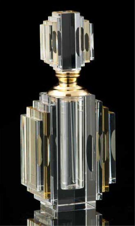 Art Deco Crystal Perfume Bottle