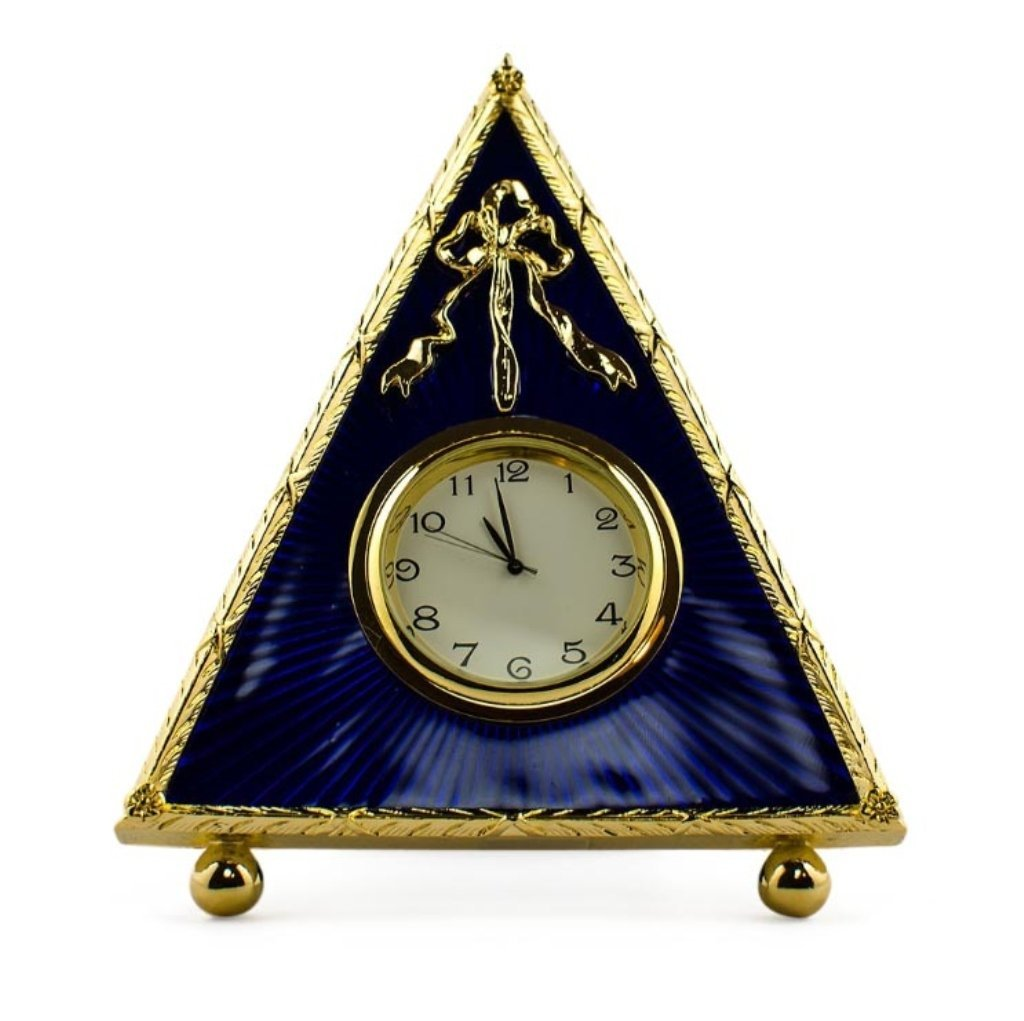 Blue Triangle Faberge Inspired Clock