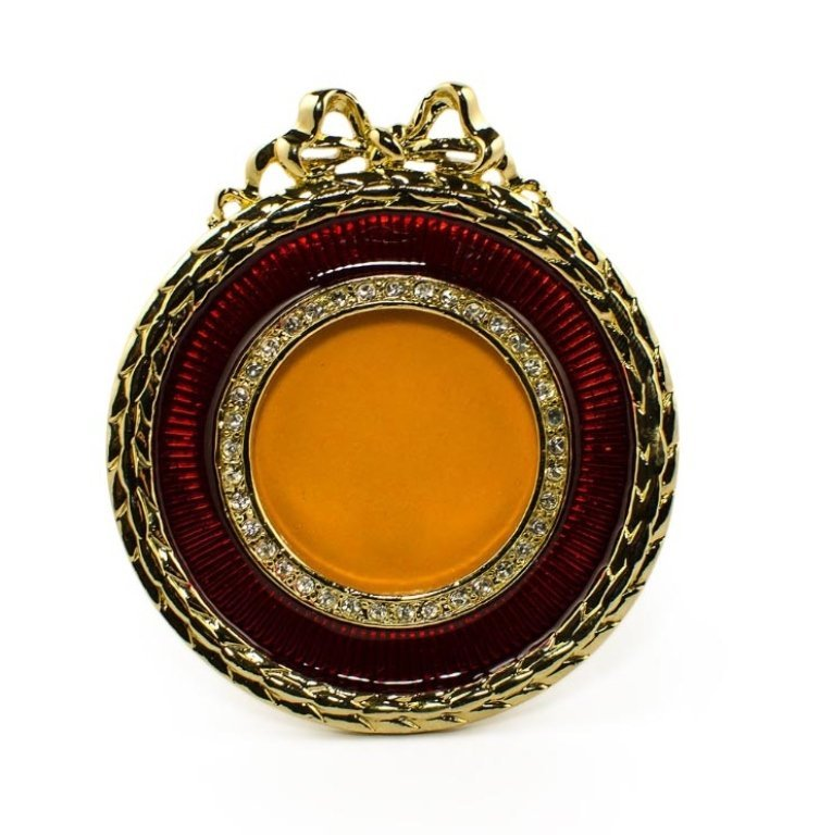 Red Round Enamel Faberge Inspired Frame