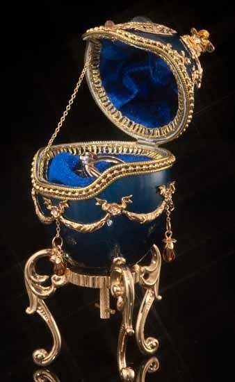 Faberge Inspired Royal Blue Egg