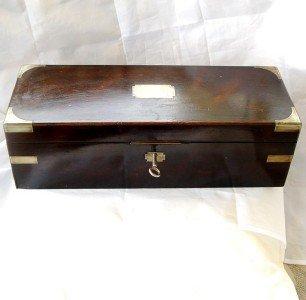 LARGE ANTIQUE INSTRUMENT ROSEWOOD BOX