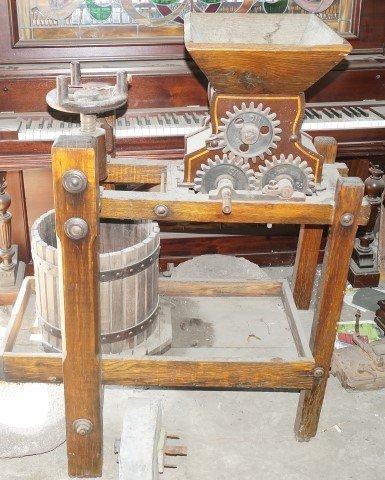 Late 19th c. Cider Press, 1880.