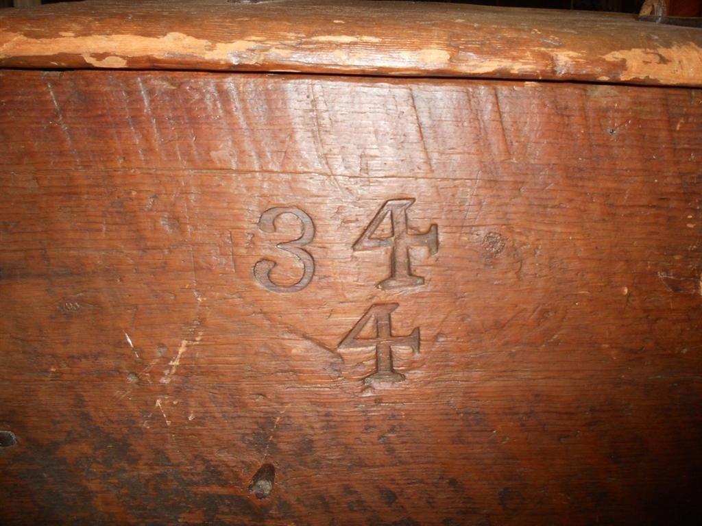Wooden Civil War-era Trunk, Foot Locker. - 4