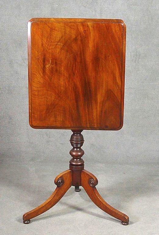 19th c. English Mahogany Regency Tilt Top Table