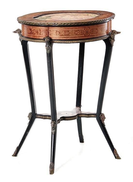 Napoleon III style inlaid mahogany Gueridon