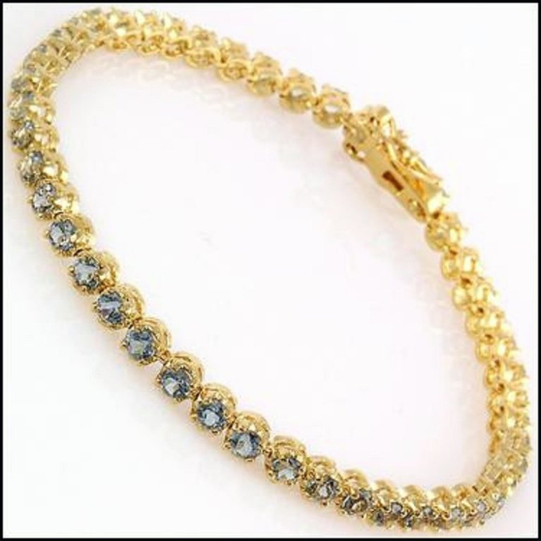 A Blue Topaz Bracelet